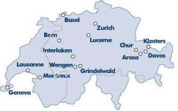 Swiss Language map